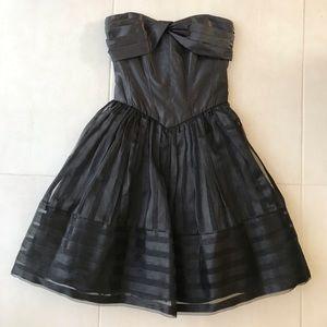 Betsey Johnson Black Bustier Tulle Dress